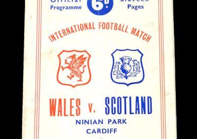 Wales v Scotland 21.10.1950