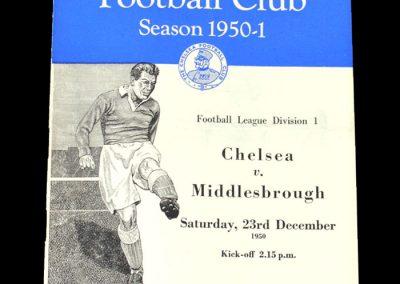 Chelsea v Middlesbrough 23.12.1950
