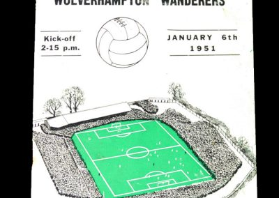 Plymouth v Wolves 06.01.1951 FA Cup 3rd Round