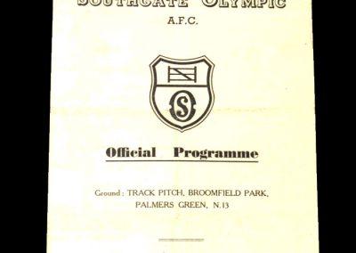 Southgate Reserves v Old Finchleans 03.03.1951