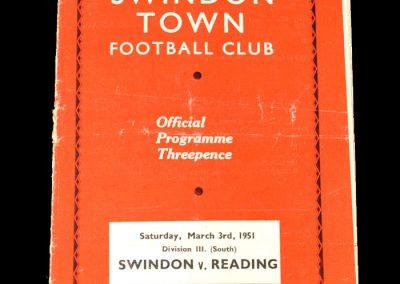 Swindon v Reading 03.03.1951