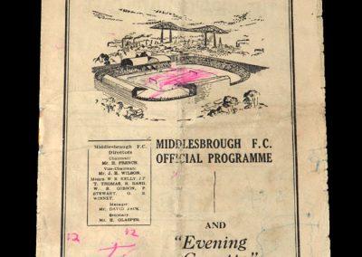 Middlesbrough v Aston Villa 24.03.1951