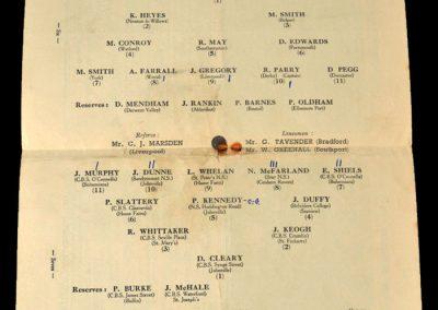 England Boys v Eire Boys 14.05.1951 (Pegg & Whelan)