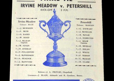 Irvine v Petershill 19.05.1951 - Scottish Junior Cup Final
