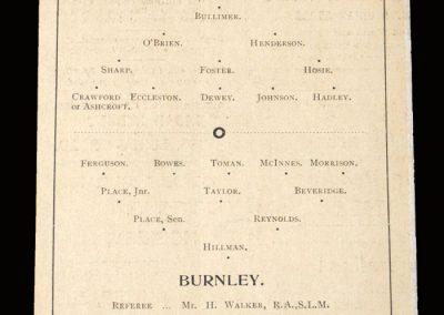 Reading v Burnley 11.04.1898
