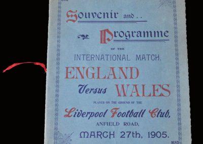 England v Wales 27.03.1905
