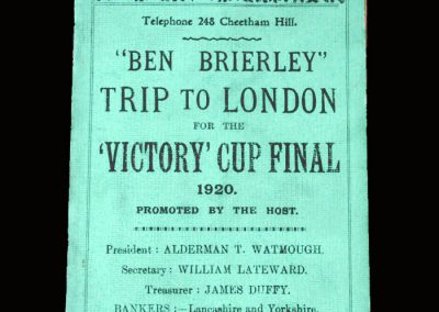 Aston Villa v Huddersfield 24.04.1920 - FA Cup Final Tour
