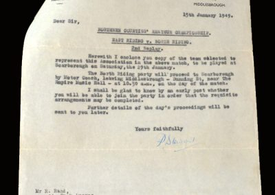 East Riding v North Riding 29.01.1949 (Northern Amateurs)