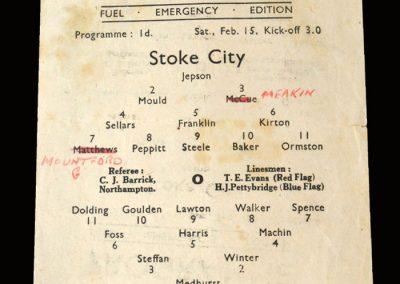 Stoke v Chelsea 15.02.1947