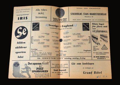 Sweden v England 13.05.1949
