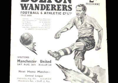 Man Utd v Bolton 26.08.1950