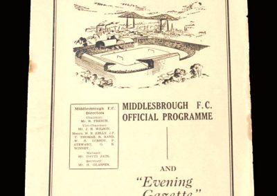 Man Utd v Middlesbrough 23.09.1950