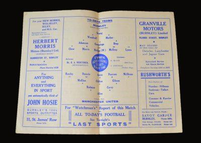 Man Utd v Burnley 24.03.1951