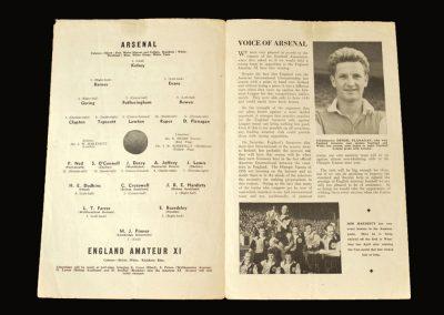 Arsenal v England Amateur 11 13.09.1955