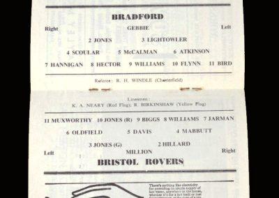 Bradford Park Avenue v Bristol Rovers 20.04.1963 (esmond million)