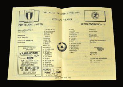 Ponteland v Middlesbrough A 07.12.1996