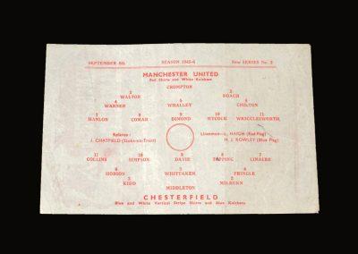 Man Utd v Chesterfield 08.09.1945
