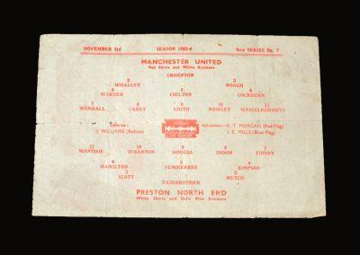 Man Utd v Preston 03.11.1945