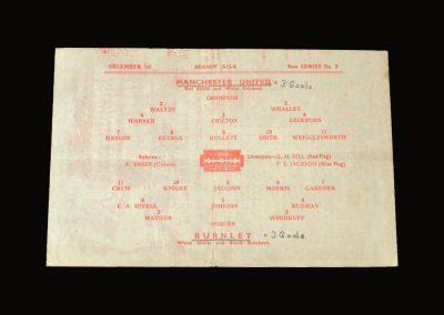 Man Utd v Burnley 01.12.1945