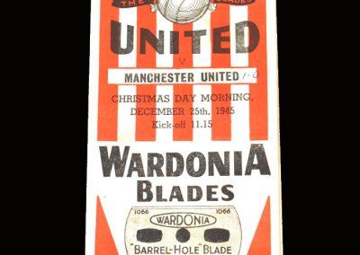 Man Utd v Sheff Utd 25.12.1945