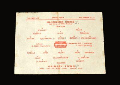Man Utd v Grimsby Town 12.01.1946