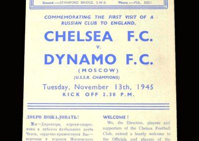 Chelsea v Dynamo 13.11.1945 3-3