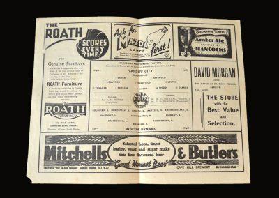 Cardiff v Dynamo 17.11.1945 1-10