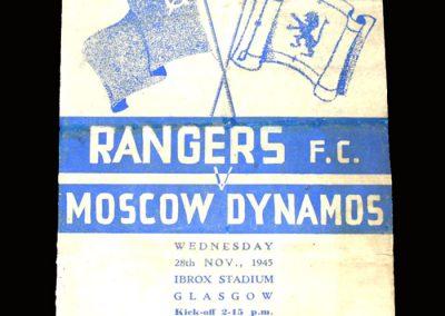 Rangers v Dynamo 28.11.1945 2-2