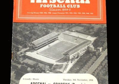 Arsenal v Spartak 09.11.1954