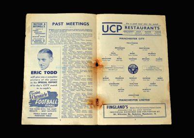 Man City v Man Utd 30.08.1952
