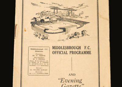 Man City v Middlesbrough 13.09.1952