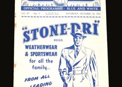 Man City v Bolton 18.10.1952