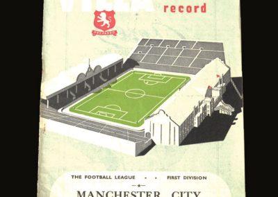 Man City v Aston Villa 25.10.1952