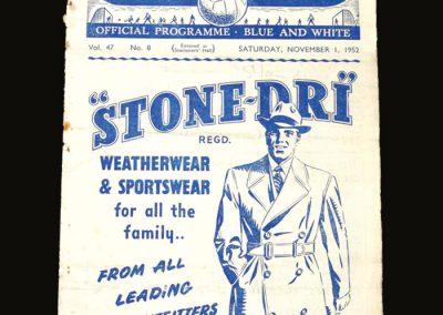 Man City v Sunderland 01.11.1952