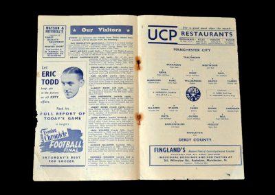 Man City v Derby 29.11.1952