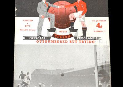 Man City v Man Utd 03.01.1953