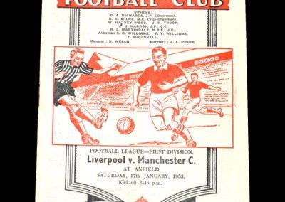 Man City v Liverpool 17.01.1953