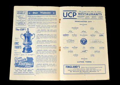 Man City v Luton 31.01.1953 - FA Cup 4th Round