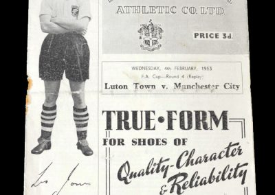 Man City v Luton 04.02.1953 - FA Cup 4th Round Replay