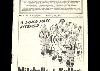 Man City v West Brom 07.02.1953