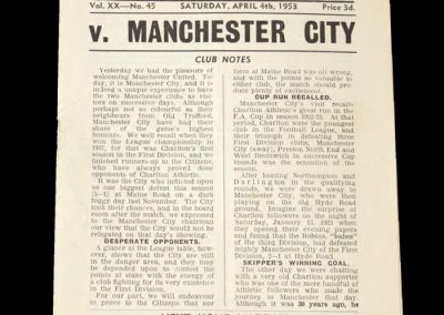 Man City v Charlton 04.04.1953