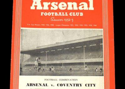 Arsenal v Coventry 06.09.1952