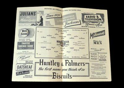 Arsenal v Reading 04.10.1952