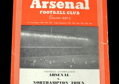 Arsenal v Northampton Town 08.10.1952