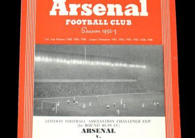 Arsenal v Walthamstow Avenue 13.10.1952
