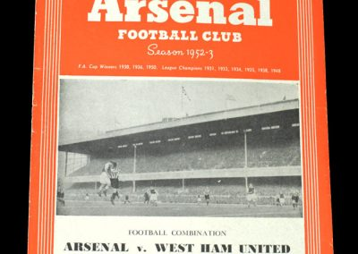 Arsenal v West Ham 01.11.1952