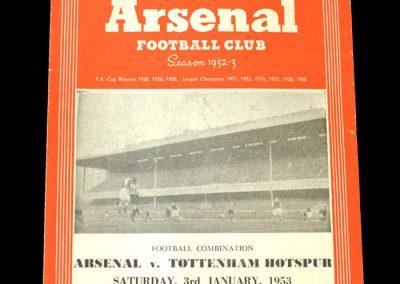 Arsenal v Spurs 03.01.1952