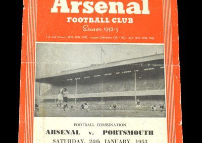 Arsenal v Portsmouth 24.01.1953