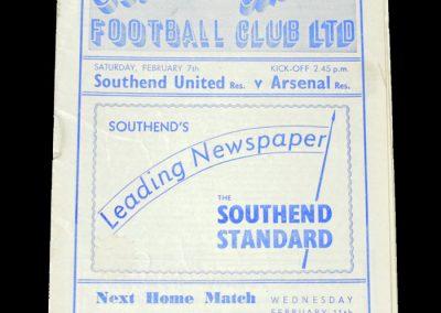 Arsenal v Southend 07.02.1953