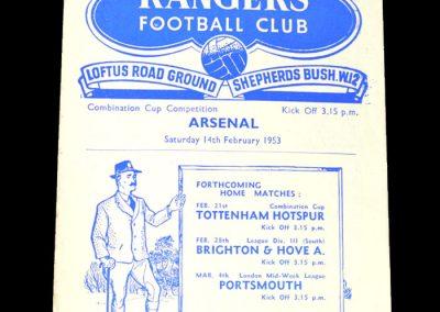 Arsenal v QPR 14.02.1953